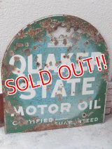 dp-151025-01 Quaker State / 30's-40's Metal Sign