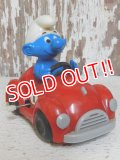 "ct-151027-21 Smurf / Galoob 80's Wind up ""Red Car"""