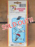 "ct-151104-19 Snoopy / AVIVA 70's Luggage Tags ""Chop Chop Chop Chop"""