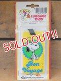 "ct-151104-21 Snoopy / AVIVA 70's Luggage Tags ""Bon Voyage"""