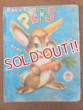 "ct-151104-12 Vintage Cloth Book ""BABY'S PETS"""