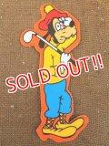 "ct-151110-09 Goofy / 70's Vinyl Magnet ""Golf"""