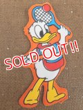"ct-151110-09 Donald Duck / 70's Vinyl Magnet ""Tennis"""