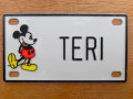"ct-150915-30 Mickey Mouse / 70's Name Plate ""TERI"""