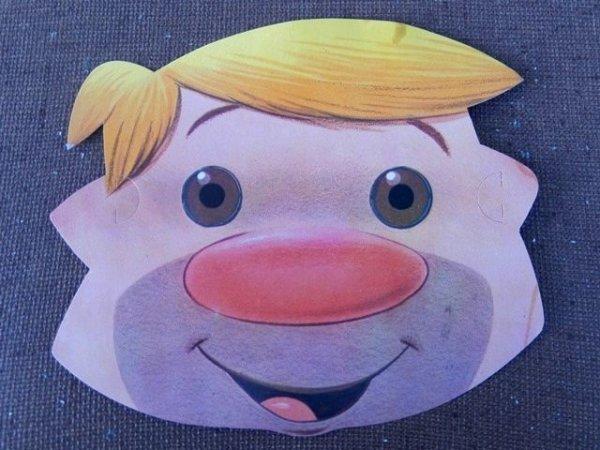 画像1: ct-151005-27 Barney Rubble / 80's Paper Mask