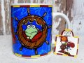 "ct-151118-31 Muppets / DAKIN 90's ""Treasure Island"" Ceramic Mug"