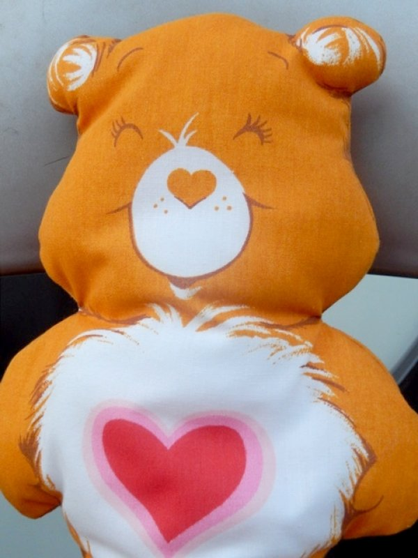 画像2: ct-151224-04 Care Bears / Tender Heart Bear 80's Pillow Doll