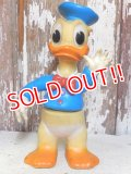 ct-131202-02 Donald Duck / Ledraplastic 60's Rubber Doll (Red Button)