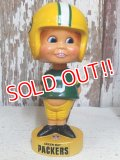 """ct-160309-55 NFL 70's Bobble Head """"Green Bay Packers"""""""