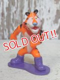 "ct-160409-32 Kellogg's Tony the Tiger / 90's PVC ""Snowboard"""