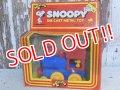 """ct-160601-20 Snoopy / AVIVA 70's Die Cast Metal Toy """"Locomotive"""""""