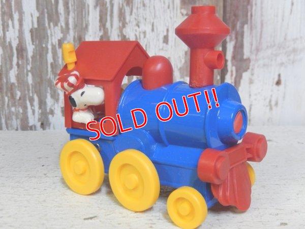 """画像2: ct-160601-20 Snoopy / AVIVA 70's Die Cast Metal Toy """"Locomotive"""""""