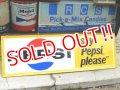 """dp-160615-02 Pepsi / 60's Say """"Pepsi please"""" Metal Sign"""