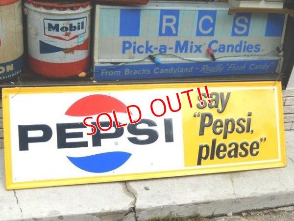 """画像1: dp-160615-02 Pepsi / 60's Say """"Pepsi please"""" Metal Sign"""