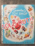 bk-160706-07 Walt Disney's SANTA'S TOY SHOP / 50's Picture Book