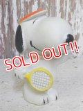 """ct-161110-10 Snoopy / 70's-80's Vinyl Squeak Toy """"Tennis"""""""