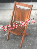 dp-170111-21 Vintage Wood Folding Chair
