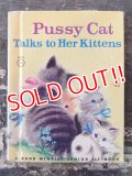 bk-170301-03 Pussy Cat Talks to Her Kittens / Vintage ELF Books