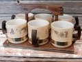 kt-170301-06 Anchor Hocking × Siesta Ware / 1960's-1970's Western Mug Set