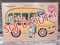 "fp-141101-20 Fisher-Price / 1970's Pick-up & Peek Puzzle ""School Bus"""