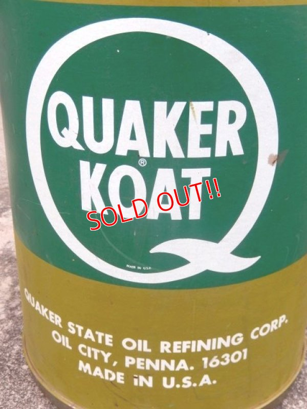 画像2: dp-170403-07 Quaker Koat / 1980's 16 U.S.Gallons Oil Can