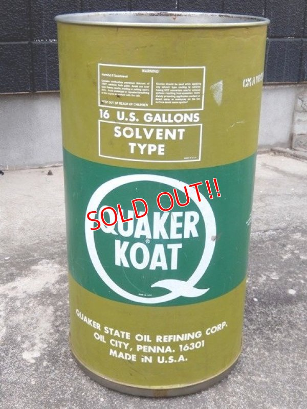 画像1: dp-170403-07 Quaker Koat / 1980's 16 U.S.Gallons Oil Can
