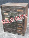 dp-170422-27 Vintage Metal Parts Cabinet