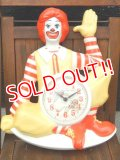 ct-170511-45 McDonald's / Ronald McDonald 1981 Wall Clock