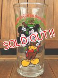 "gs-170605-01 Mickey Mouse & Morty / Coca Cola ""Mickey's Christmas Carol"" 1982 Glass"