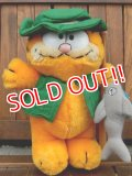 "ct-170605-24 Garfield / R.DAKIN 1980's Plush Doll ""Fisherman"""