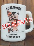 "ct-170803-24 Flintstones / Federal 1970's ""BEDROCK CITY"" Mug"