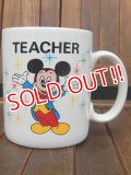 "ct-170803-50 Walt Disney World / 1980's ""TEACHER"" Mug"