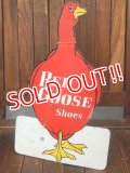 dp-170803-25 Red Goose Shoes / Vintage Cardboard Sign