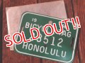 "dp-170810-21 1960's Bicycle Tag ""HONOLULU"""