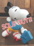 "ct-150310-71 Snoopy / Schleich 80's PVC ""Roller skate"""