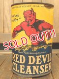 dp-171001-08 RED DEVIL CLEANSER / 1950's Can