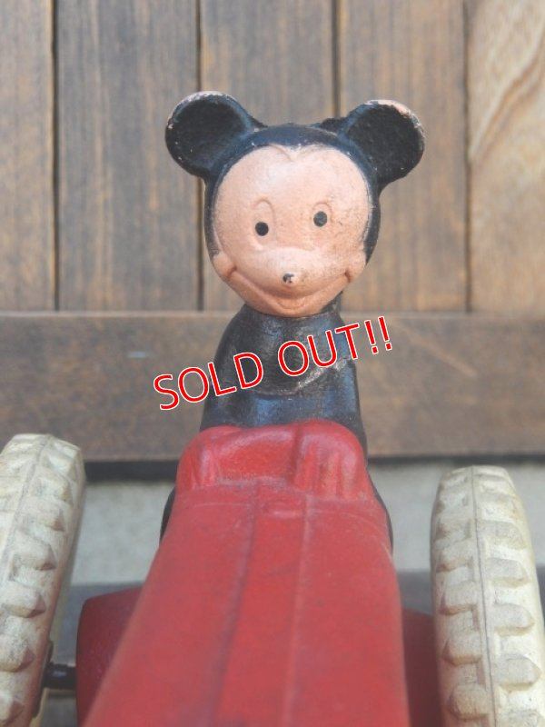 画像2: ct-150825-17 Mickey Mouse / Sun Rubber 1940's Mickey's Tractor