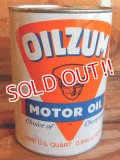 dp-171020-18 OILZUM / 1970's 1QT Motor Oil Can