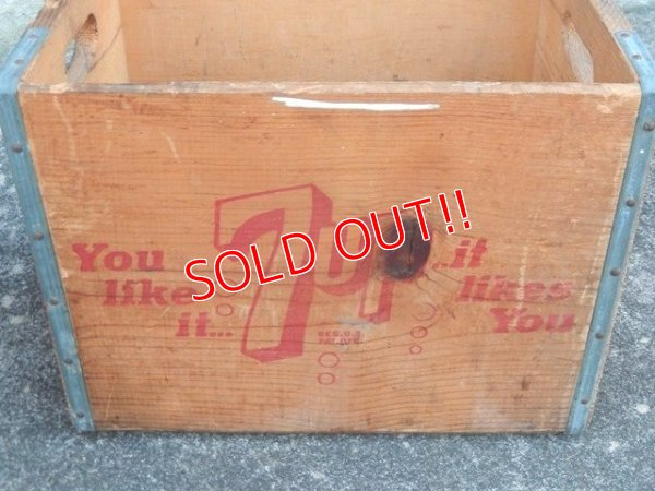 画像2: dp-171101-14 7up / 1960's-1970's Wood Box