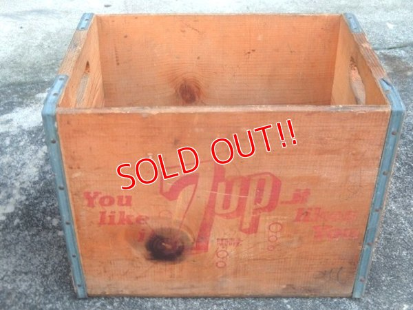 画像1: dp-171101-14 7up / 1960's-1970's Wood Box