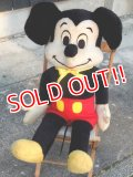 ct-171101-01 Mickey Mouse / 1970's Big Plush Doll