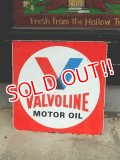 dp-171101-04 Valvoline / 1960's W-side Metal Sign