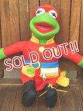 ct-171109-19 Kermit the Frog / Mattel 1990's Firefighter Plush Doll