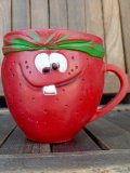 "ct-180110-01 Pillsbury / 1970's Funny Face Plastic Mug ""Freckle Face Strawberry"