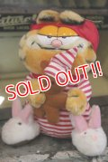 "ct-180201-19 Garfield / R.DAKIN 1980's Plush Doll ""Pajamas"""
