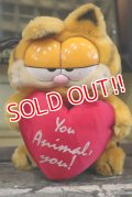 "ct-180201-20 Garfield / R.DAKIN 1980's Plush Doll ""You Animal,You!"""