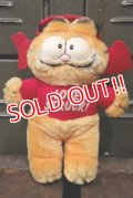 "ct-180302-06 Garfield / R.DAKIN 1980's Plush Doll ""LOVE STRUCK!"""