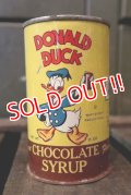 ct-180501-01 Donald Duck / 1940's Chocolate Syrup Can