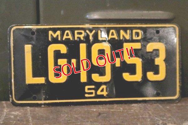 画像1: dp-150914-06 50's Bicycle Plate / Maryland