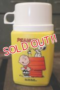 ct-150609-12 PEANUTS / Snoopy & Charlie Brown 1970's Thermos